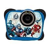 The Avengers Lexibook DJ135AV - Fotocamera Digitale 5MP flash, Design Full Team, Schermo LCD, memoria 100 immagini, Blu/Nero