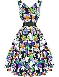 Hearts & Roses London Hinreißend Blumenmuster Vintage Retro 1950s Ausgestellt Nachmittagskleid Hervorragende Qualität