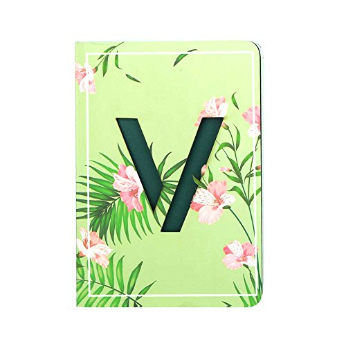 Doodle Initial V Lasercut Diary Notebook, B6 (7 X 4.75 X 0.5 Inches), 192 Pages, 80 GSM, Gift for Girls