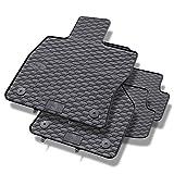 Mossa Tapis de Sol Caoutchouc - Set de 4 Tapis de Pieds - Ajustement Parfait - Noire - 5902538448611