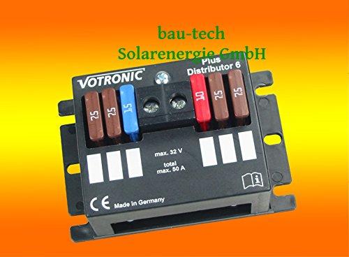 Votronic Plus Distributor 6 - 12V/24V - Verteiler für 6 abgesicherte Ausgänge von bau-tech Solarenergie GmbH