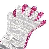 50PCS Arvin87Lyly Einweg plastik handschuhe Handschuhe mit langen Armen Tierarzt handschuhe (85cm/Zufällige Farben)