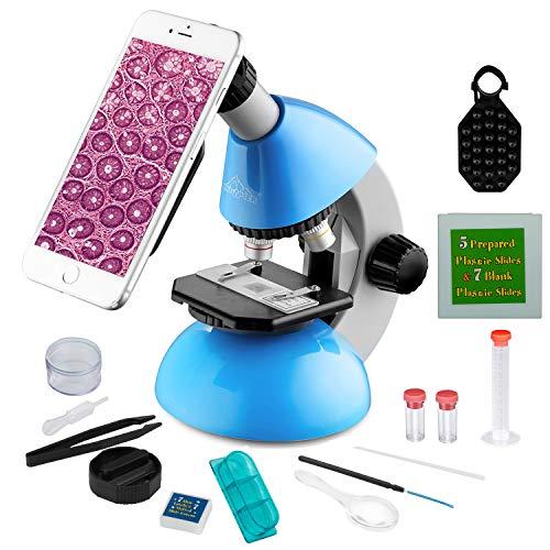 MAXLAPTER Portatil Microscopio Niños 40x-640x, Monocular