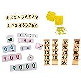 Sharplace Juego de Banco Montessori + Inserte Tablero de Número Cuenta Matemática Juguete Inclinado Duradero de Usar