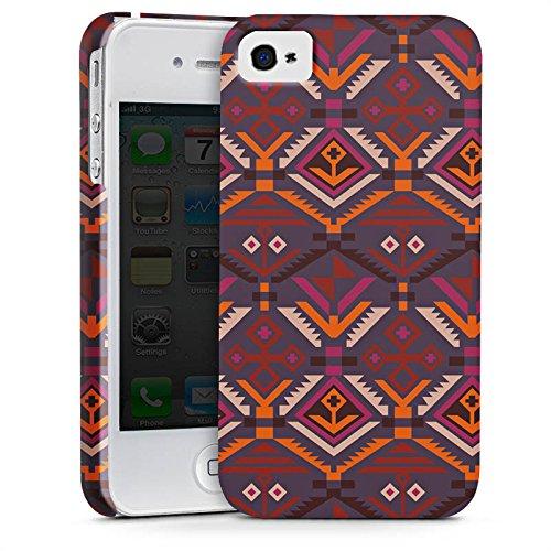 Apple iPhone X Silikon Hülle Case Schutzhülle Ethno Herbst Azteken Muster Premium Case glänzend