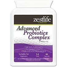 Zestlife avanzada Probióticos Complex 60 cápsulas para mejorar la salud digestiva . ** Introducción especial de oferta para los clientes de Amazon **