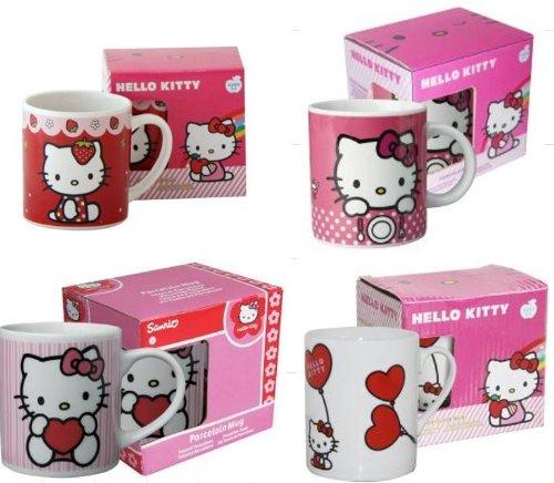 1 Becher Hello Kitty, Keramik, sortierte Motive (Hello Kitty Keramik Becher)