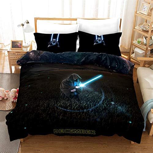 Canvas Mikrofaser Bettbezug-Set Star Wars-Film Bettwäsche Set zum Kinder Jugendliche Erwachsene Jungs,Full (Queen-size-star Wars Bettwäsche)