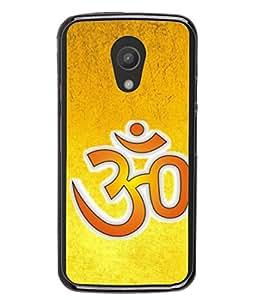 Fuson Designer Back Case Cover for Motorola Moto G2 :: Motorola Moto G (2nd Gen) (Hindu Religious Dharm Spiritual Meditation Word Om Temple God Mandir)