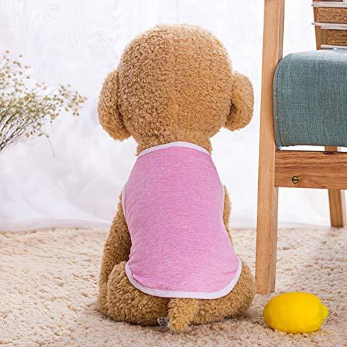 Delicacydex Sommer-Nette Hundeauto-T-Shirt Haustier-Kleidung Kleiderweste-Kostüm-Kleidungs-Kostüm-tägliche Nette ankleiden-Kleidung - Rosa XXL