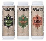 Fromonda varietà confezione talco gratis corpo polvere, (3pezzi), 141,7gram ciascuno