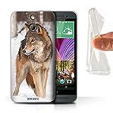 Stuff4 Gel TPU Hülle / Hülle für HTC One/1 E8 / Wolf