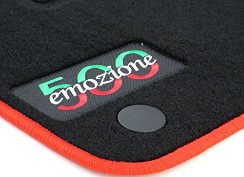 TN-Classic Fussmatten Autofußmatten Autoteppiche Passform - Fußmatte Autoteppich, 500 Fiat