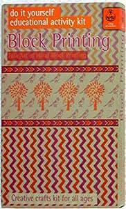 Potli DIY Indian Craft Kit Hand Block Printing Classic, Multi Color