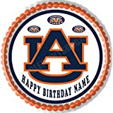 "Auburn Tigers Edible Cake Topper & Cupcake Toppers - 6"" Round"