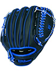 "Wilson Sporting Goods Co. A200 10"" Right-hand baseball glove 10"" Negro, Azul - guantes de béisbol"