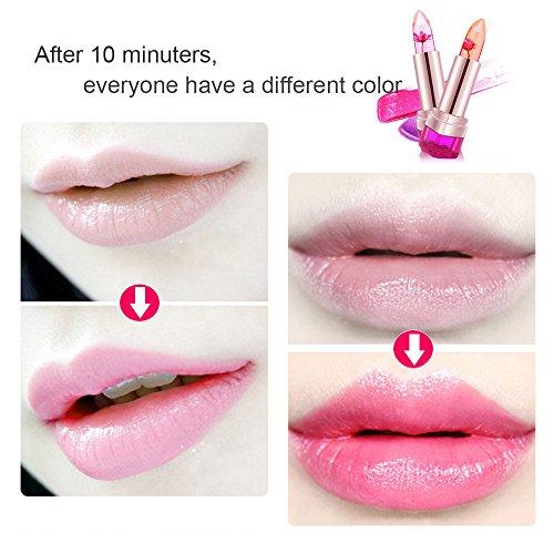 CINEEN Jelly Lipstick Professional Long Lasting Moisturizing Crystal Colour Changing Lip Balm Mask Gloss 3PCS/Set