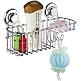 MaxHold No-drilling/suction Multi-functional Combo Basket- Vaccum System - Stainless Steel Never Rust