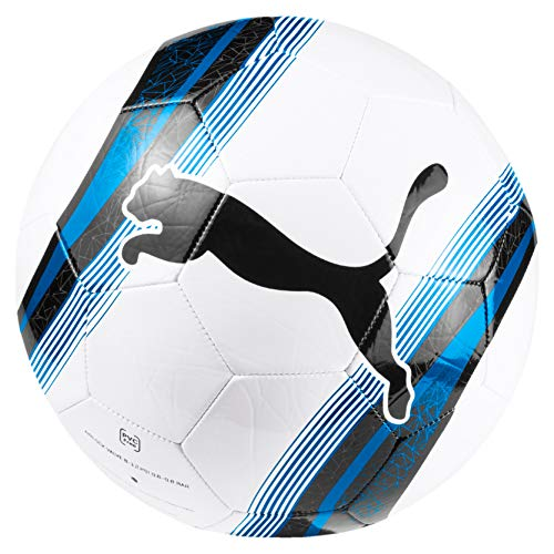 PUMA Unisex - Erwachsene Big Cat 3 Ball Fußball, White-Team Power Blue Black, 5