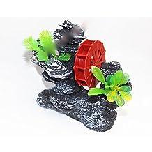 Figura molino de agua adorno acuático decoración para acuario