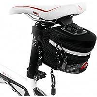 vitalite-outdoor Montagna Bicicletta Sella Borsa sedile posteriore, Storage Bag, Black