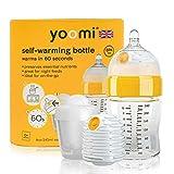 Yoomi Selbstwärmende Babyflasche mit Doppelwärmer, 240 ml