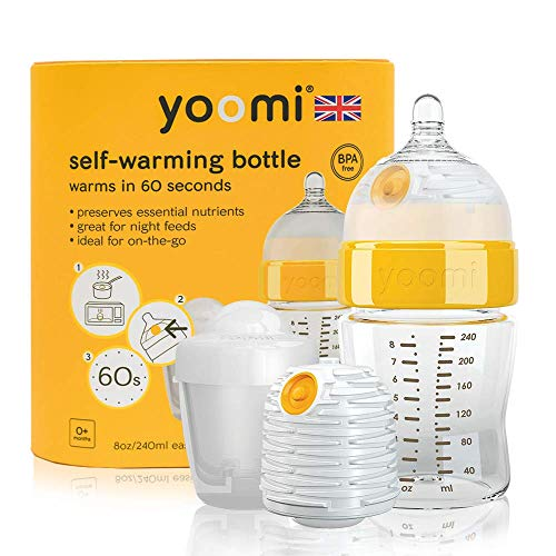 Yoomi self warming scalda biberon con doppio, 240 ml