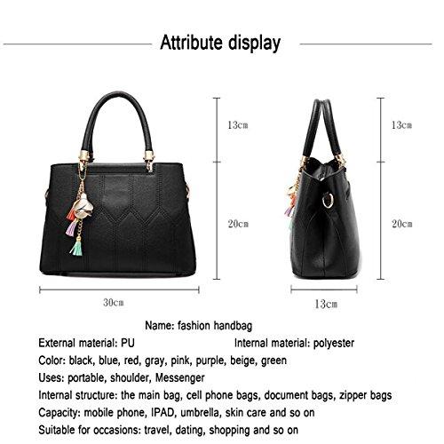 WU ZHI Damen Handtasche Und Linie Umhängetasche Messenger Bag Handtasche Beige