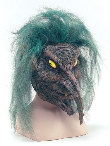 Tree Sprite Maske Overhead Evil Goblin Magische Kreatur Halloween Fancy ()