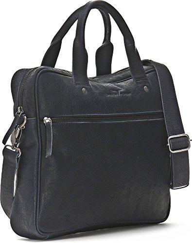 URBAN FOREST, Leder Messengertasche mit Laptopfach, Aktentaschen, Business-Bags, Messenger, Messengerbags, Umhängetaschen, 37,5 x 29,5 x 6,5 cm (B x H x T) Blau