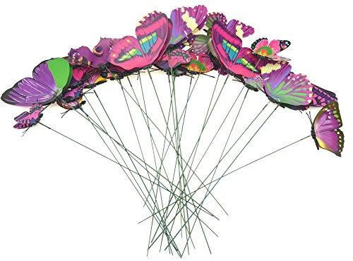 FiveSeasonStuff 24 Piezas 3D Mariposas Adhesivos Colección / 3D Efecto Mariposas Pegatinas...