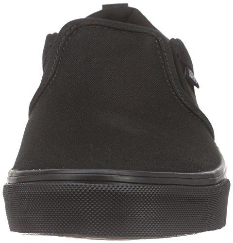 Vans Jungen Asher Sneaker Schwarz (canvas/black/black)