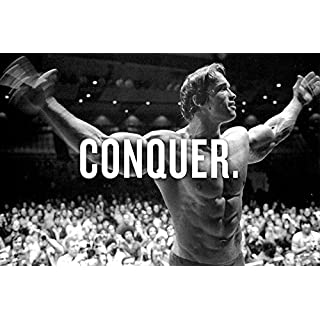 Arnold Schwarzenegger Conquer Giant Poster Print - A5 A4 A3 A2 A1 A0 Sizes