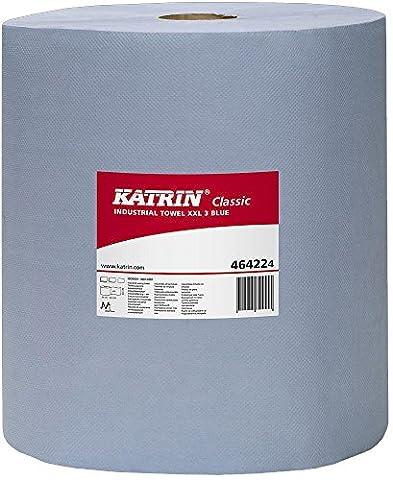 Essuie-tout industriel Katrin AFK224-B classique - 3 épaisseurs, XXL, bleu (lot de 40)