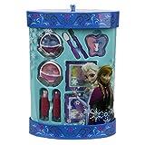 Markwins Disney Frozen Geschenk-Set mit Beauty-Produkten in Box mit Anna und Elsa-Print, 1er Pack (enthält kindgerechte Schminkprodukte für Augen und Lippen)