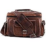 A.P. Donovan - Kameratasche aus Leder | Fototasche | Schultertasche | Umhängetasche für Fotozubehör (Kunstleder)