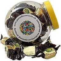 Tarro de galletas de 250 g de caramelos de chocolate Lutti Carachoc envueltos individualmente.