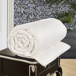LilySilk Bettbezug 100% Seide Maulbeerseide, 1Paar 360g/m2–Umschlag Baumwolle in weiß–Steppdecke Seide, weiß, 260 x 240 cm