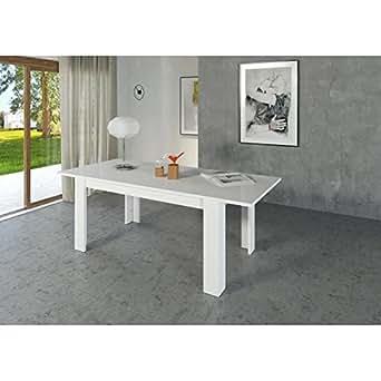 Milano table extensible 160/210cm blanc laqué