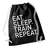 Eat Sleep Train Repeat Gymsack Black Certified Freak