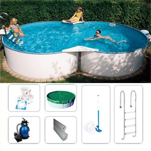 Achtformpool-Set Fun-Zon de Luxe 4,70 x 3,00 x 1,50m, Stahlwandbecken