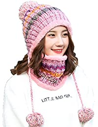 Protección Para Los Oídos Sombrero De Punto Moda Salvaje Gorra Con Capucha  Además De Cachemira Cálido 6a6c0ae176d