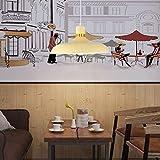 Nnycir Hauptdekoration-Restaurant-Persönlichkeit moderner minimalistischer Phnom Penh Metallleuchter (Größe : Yellow)