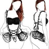 popiv Damen Sexy Dessous Set Erotik Dienstmädchen Kostüm BH Spitze Maid Cosplay Kostüm