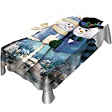 Lenfesh Tablecloth for Christmas,Fashion Snowman Printed Rectangle Table Cover Christmas Table Cloth Home Decoration