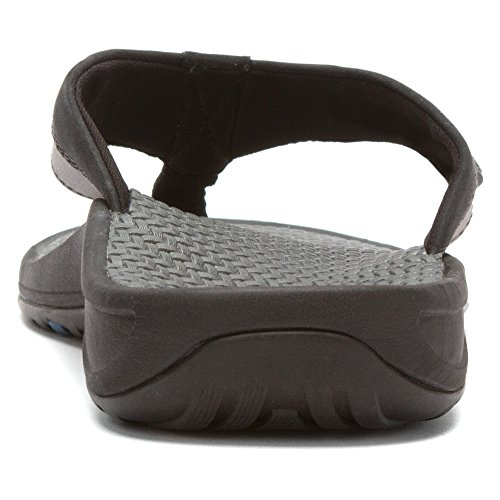 Vionic Mens Joel Toe Post Sandal Black/Charcoal