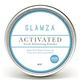 Glamza Activated Teeth Whitening Powder Natural Charcoal Coconut Shell Mint Flavour