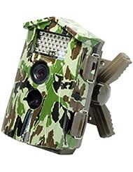 Technaxx Nature Cam Wildkamera (5 Megapixel CMOS Sensor, 6,1 cm (2,4 Zoll) TFT-Display, HD, Kartenslot, Mikrofon), neueste Version mit 1,1 Sek. Auslösezeit, tarnfarbe