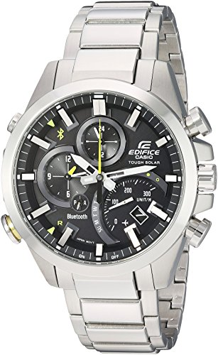 Casio Herren analog Quarz Uhr mit Edelstahl Armband EQB-501D-1ACF