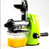 XGLL home Manuelle Zitrone Entsafter Haushalt Hand Obst Saft Baby Saft gepresster Orangensaft Maschine, light green